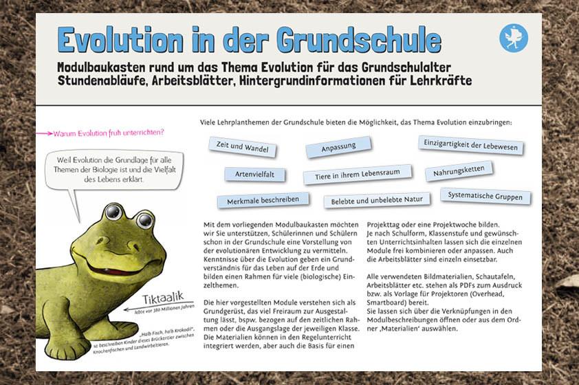 Modulbaukasten Evolution für die Grundschule – Pindactica